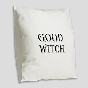 Good Witch Halloween Burlap Throw Pillow