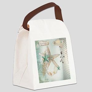 Summer Sea Treasures Beach Canvas Lunch Bag