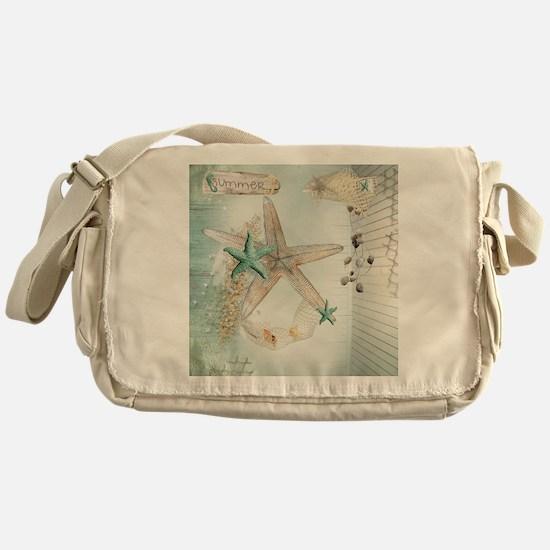 Summer Sea Treasures Beach Messenger Bag