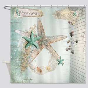 Summer Sea Treasures Beach Shower Curtain