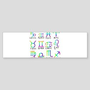 Twelve Zodiac signs Bumper Sticker