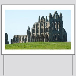 Whitby Abbey in Yorkshire, England Yard Sign