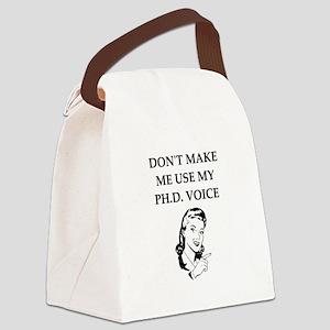 ph.d. joke Canvas Lunch Bag