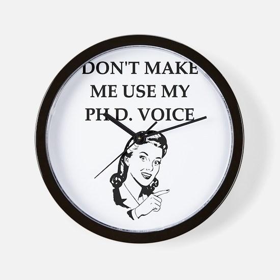 ph.d. joke Wall Clock