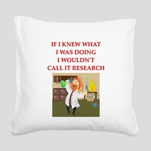 research Square Canvas Pillow