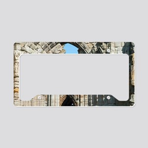 Detail of Whitby Abbey ruins License Plate Holder