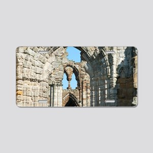 Detail of Whitby Abbey ruin Aluminum License Plate