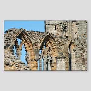 Graceful arches in Whitby Abbe Sticker (Rectangle)