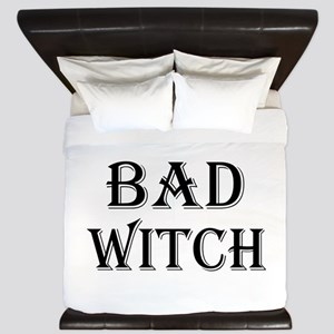 Bad Witch Halloween King Duvet