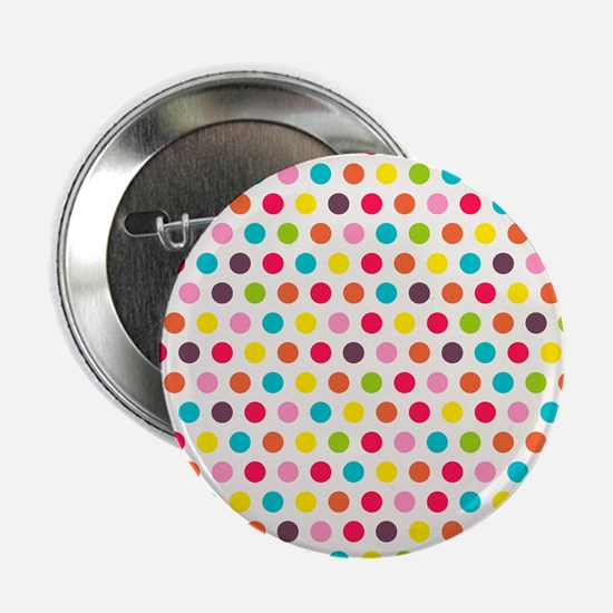 """Colorful Polka Dots Pattern 3 2.25"""" Button (10 pac"""