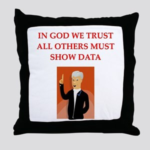 research Throw Pillow