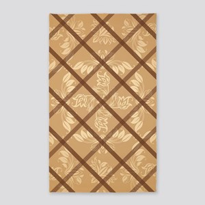 CHAMPAGNE DAMASK 3'x5' Area Rug