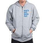 suns out guns out Zip Hoodie