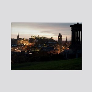 Edinburgh View Rectangle Magnet