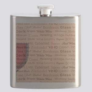 TIME FOR WINE Flask