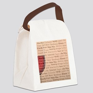 TIME FOR WINE Canvas Lunch Bag