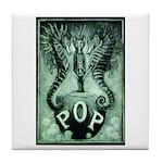 Pop Logo By David Doherty Tile Coaster