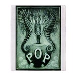 Pop Logo By David Doherty Throw Blanket