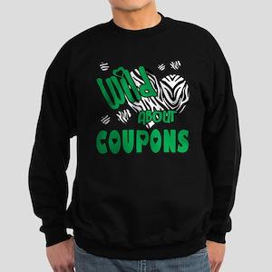 Wild About Coupons Green Sweatshirt (dark)