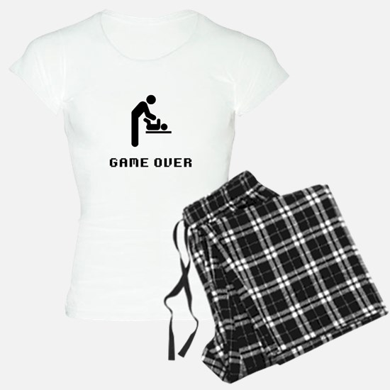Father Diaper Change Game Over Pajamas