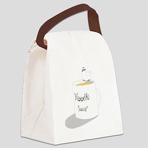 Chicken Noodle Soup Canvas Lunch Bag