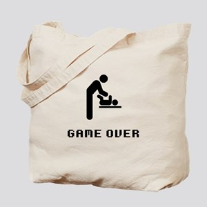 Father Diaper Change Game Over Tote Bag