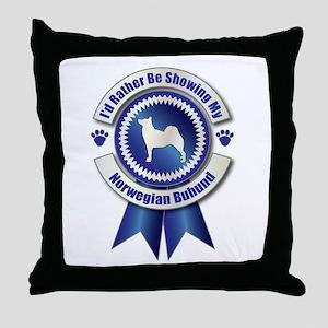 Showing Buhund Throw Pillow