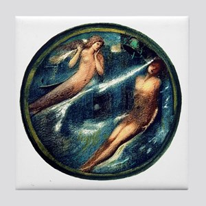 Burne Jones Grave of the Sea Tile Coaster