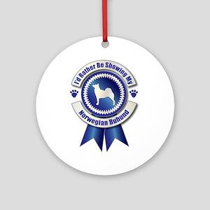 Showing Buhund Ornament (Round)