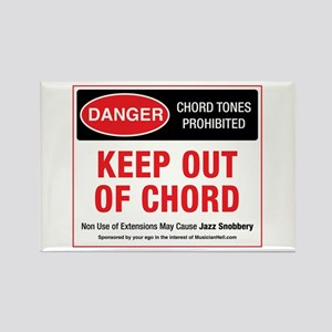 Keep Out Of Chord Rectangle Magnet Magnets