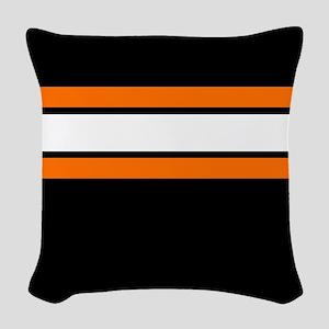 Team Colors 2...Orange,white and black Woven Throw