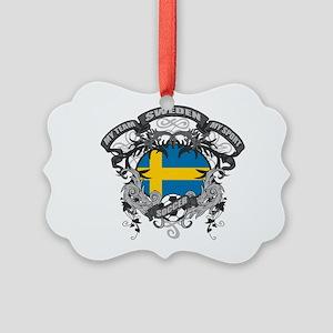 Sweden Soccer Picture Ornament