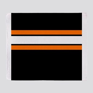 Team Colors 2...Orange,white and black Throw Blank