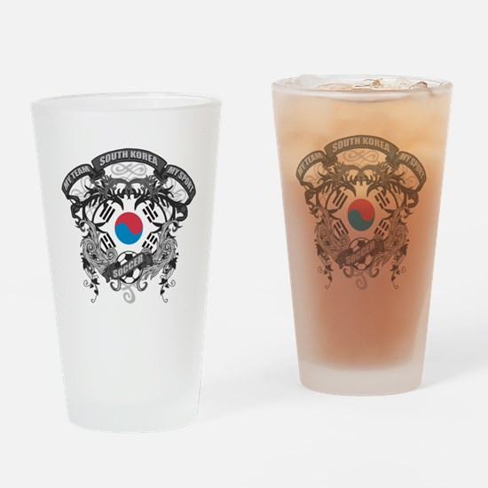 South Korea Soccer Drinking Glass