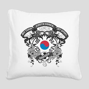 South Korea Soccer Square Canvas Pillow