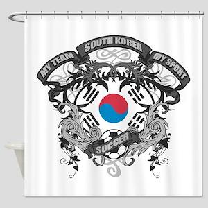 South Korea Soccer Shower Curtain
