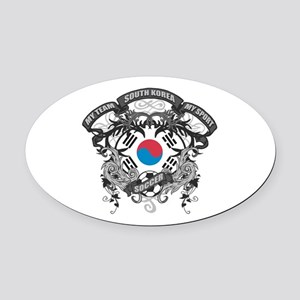 South Korea Soccer Oval Car Magnet