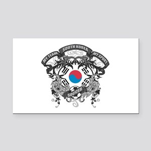 South Korea Soccer Rectangle Car Magnet