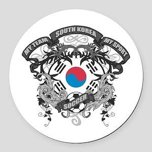 South Korea Soccer Round Car Magnet