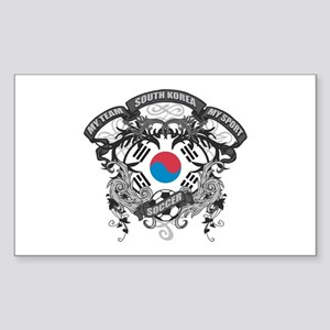 South Korea Soccer Sticker (Rectangle)