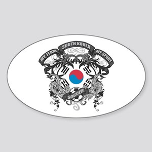 South Korea Soccer Sticker (Oval)