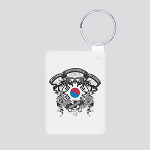 South Korea Soccer Aluminum Photo Keychain