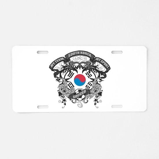 South Korea Soccer Aluminum License Plate