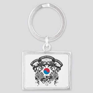South Korea Soccer Landscape Keychain