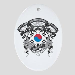 South Korea Soccer Ornament (Oval)