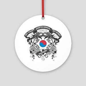 South Korea Soccer Ornament (Round)