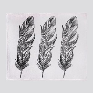 Three Feathers Throw Blanket
