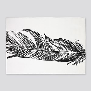 Feathers 5'x7'Area Rug