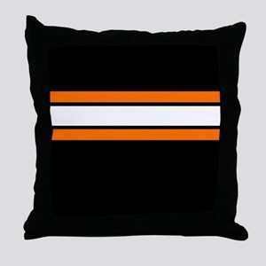 Team Colors 2...Orange,white and black Throw Pillo