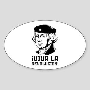 Viva La Revolucion! Oval Sticker